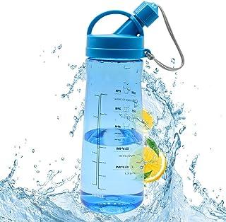 Botellas de Agua, Botella Tritan 1600ML, Eco Amigable y sin Plásticos BPA Reutilizable con Tapa a Prueba de Fugas para Deportes al Aire Libre Entrenamiento de Gimnasio Senderismo y Oficina