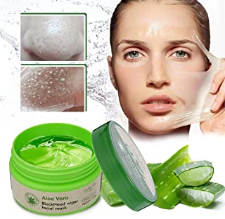 LuckyFine Aloe Vera Peel Off Facial Mask - Blackhead Removal - Purifying Deep Cleansing - Acne Treatment - Oil Control - Facial Moisturizing - Face Whitening - Soothing & Moisture Skin