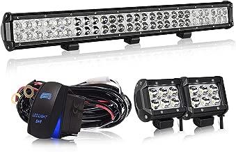DOT Approved 25 inch LED Light Bar Grill Bumber Bull Bar w/ 4 inch LED Pods Fog Lights For Truck 4Wheeler Toyota Silverado Ford Jeep JK SUV Boat 4x4 Lamp Tractor Marine Offroad Lighting Rv Atv Utv