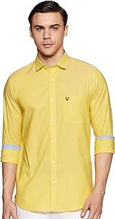 Allen Solly Men's Solid Regular Fit Casual Shirt