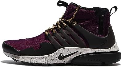 Nike Air Presto Mid Utility Men's Running Shoes Bordeaux/Black-Pale Grey 859524-600
