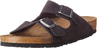 Arizona Suede Leather Soft Footbed Velvet Grey