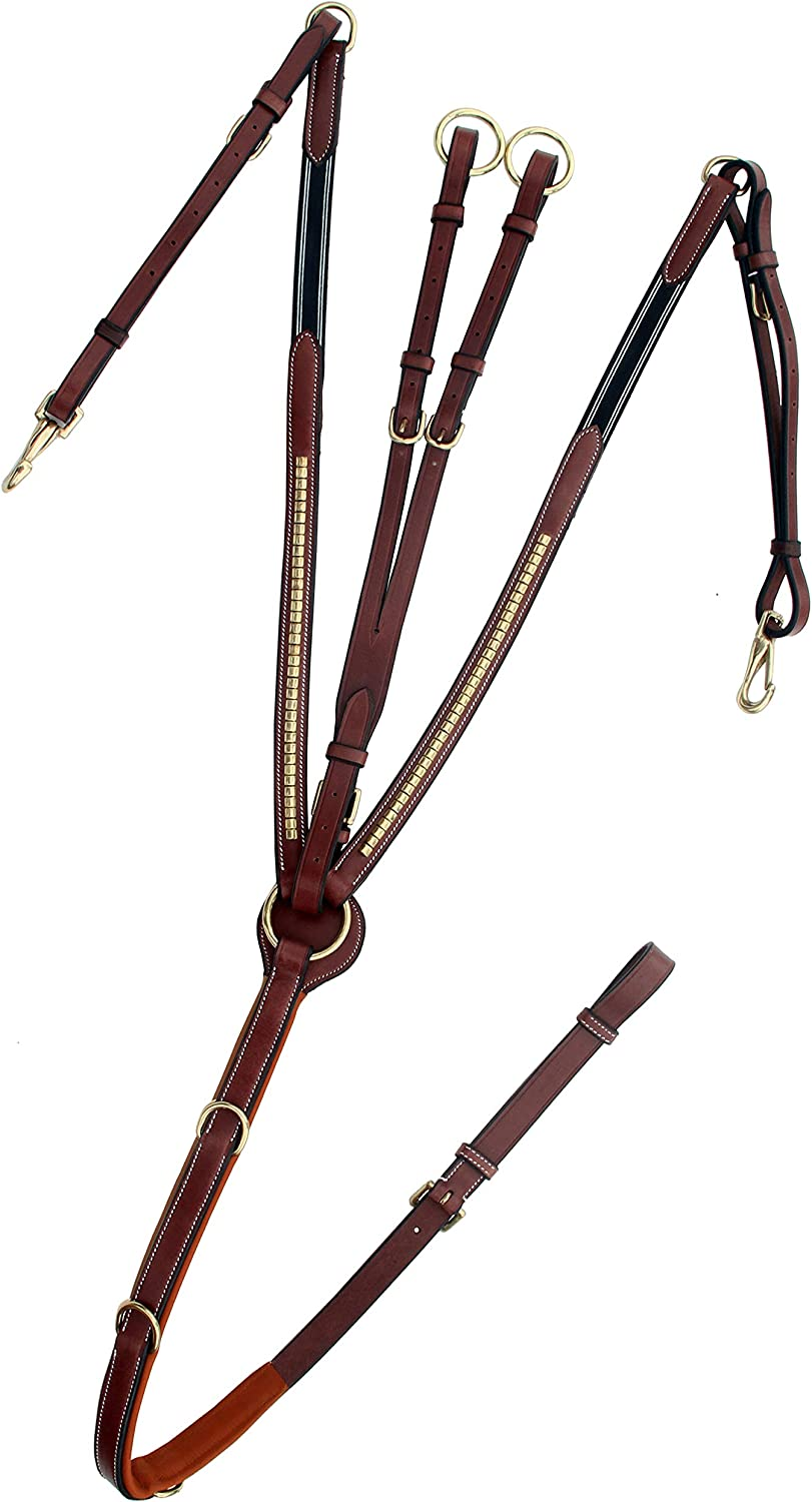 ExionPro Courier shipping free Brass Clinched Soft Price reduction Padded Runni Breastplate with Horse
