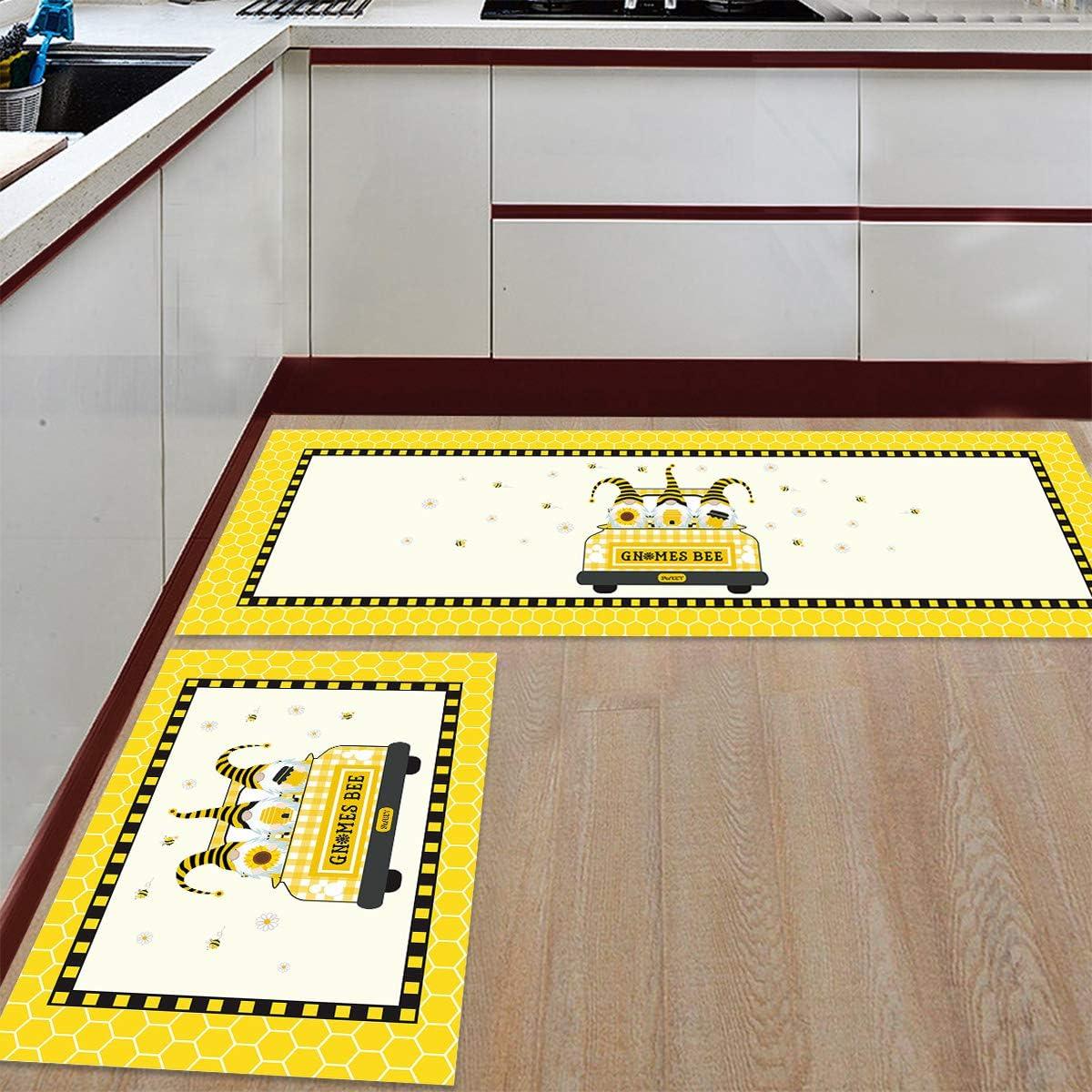 Kitchen Mat Set Anti-WearNon-Slip specialty shop Floor Rug Ranking TOP5 Microf Pieces 2