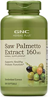GNC Herbal Plus Saw Palmetto Extract 160mg, 200 Capsules, Supports Healthy Prostate Health