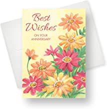 Northern Cards - Anniversary Card - Anniversary Daisies (Best Wishes on Your Anniversary) - Large