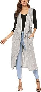sleeveless maxi cardigan