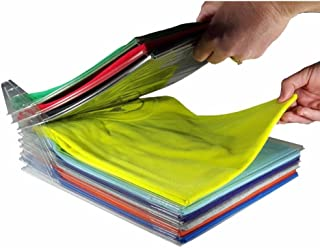 Amazon FBA Prime EZSTAX Clothes Organizer T-Shirt Organizer Cabinet Organizer T-Shirt Clothes Rack Closet Board Organizer Folding Storing Folder Folding Closet Drawer T-Shirt Storage 10 Pcs