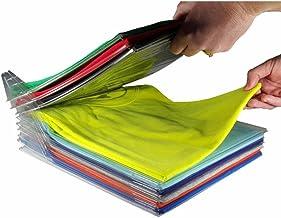 EZSTAX Clothes Organizer T-Shirt Organizer Cabinet Organizer T-Shirt Clothes Rack Closet Board Organizer Folding Storing F...
