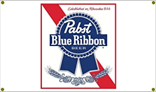 Signs By Woody Pabst Blue Ribbon Beer Garage Banner Man Cave Banner Hot Rod Rat Rod NHRA