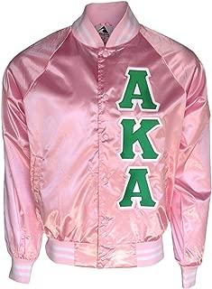 Womens Alpha Kappa Alpha Satin Jacket Pink
