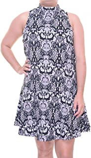 Free People Womens High Neck A-Line Dress