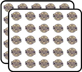 Mumbai City India Grunge Travel Stamp Sticker for Scrapbooking, Calendars, Arts, Kids DIY Crafts, Album, Bullet Journals 50 Pack