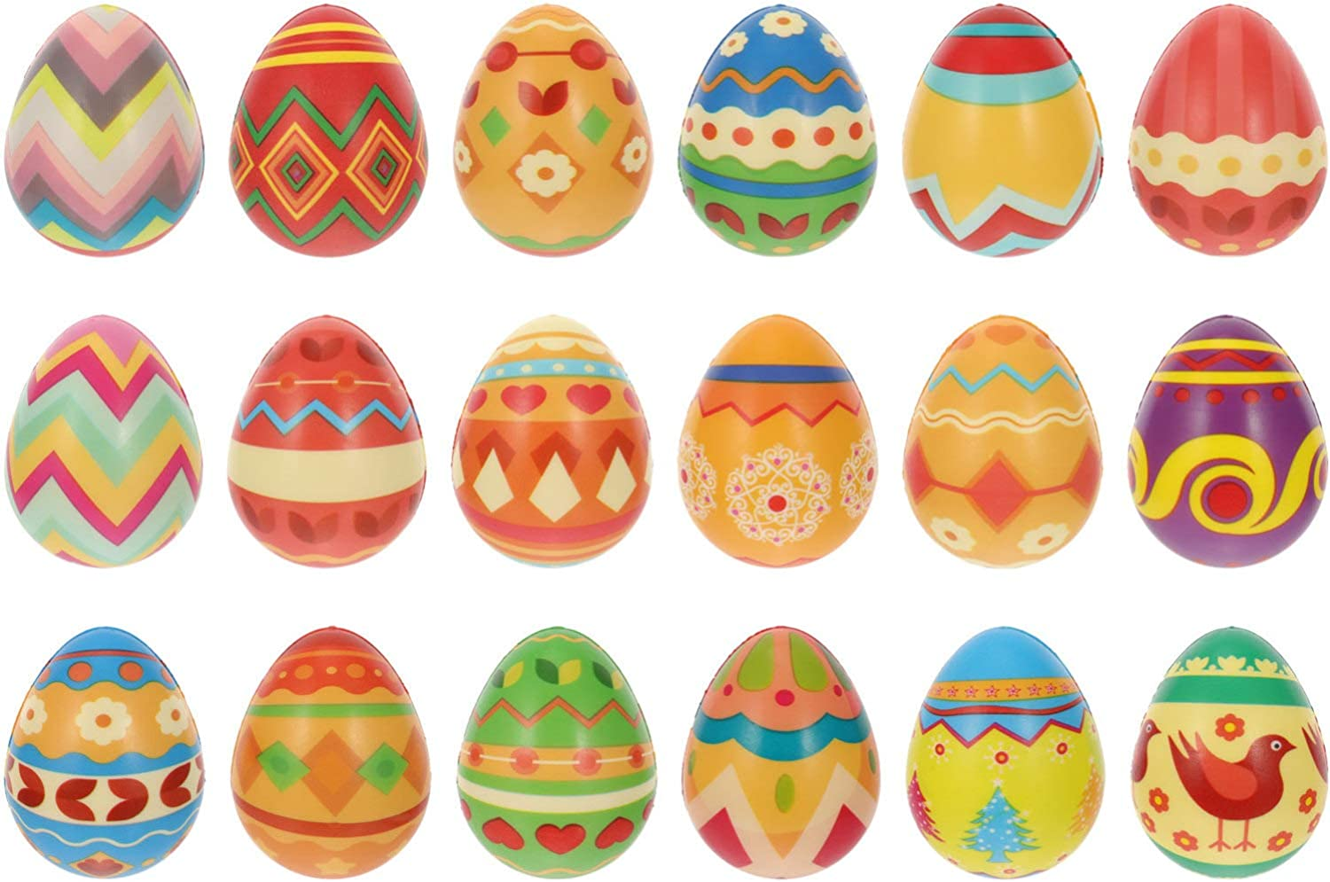 TOYANDONA 18Pcs Easter New Shipping Free Jumbo Limited time trial price Squeeze Toys Slow Rising T Soft Egg
