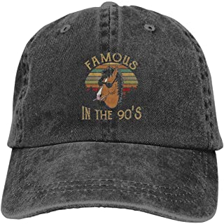 Bojack-Horseman-Famous-In-The-90-S- Unisex Vintage Washed Distressed Baseball-Cap Twill Adjustable Dad-Hat