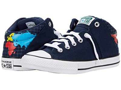 Converse Kids Chuck Taylor All Star Axel Mid (Little Kid/Big Kid) (Obsidian/Sail Blue/White) Kid