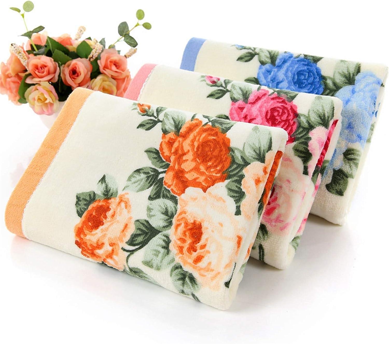 Cheap mail order shopping LDDJ Towel Department store Brand Women Peony Men's Bath 35cm Towe 75