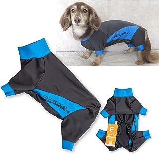 犬猫の服 full of vigor_ドッグプレイ(R)レインラッシュガード_7/ブルー_DM_小型犬・ダックス用