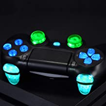eXtremeRate Multi-Colors Luminated D-pad L1 R1 R2 L2 Trigger Thumbsticks Home Face Buttons DTFS (DTF 2.0) LED Kit for PS4 ...