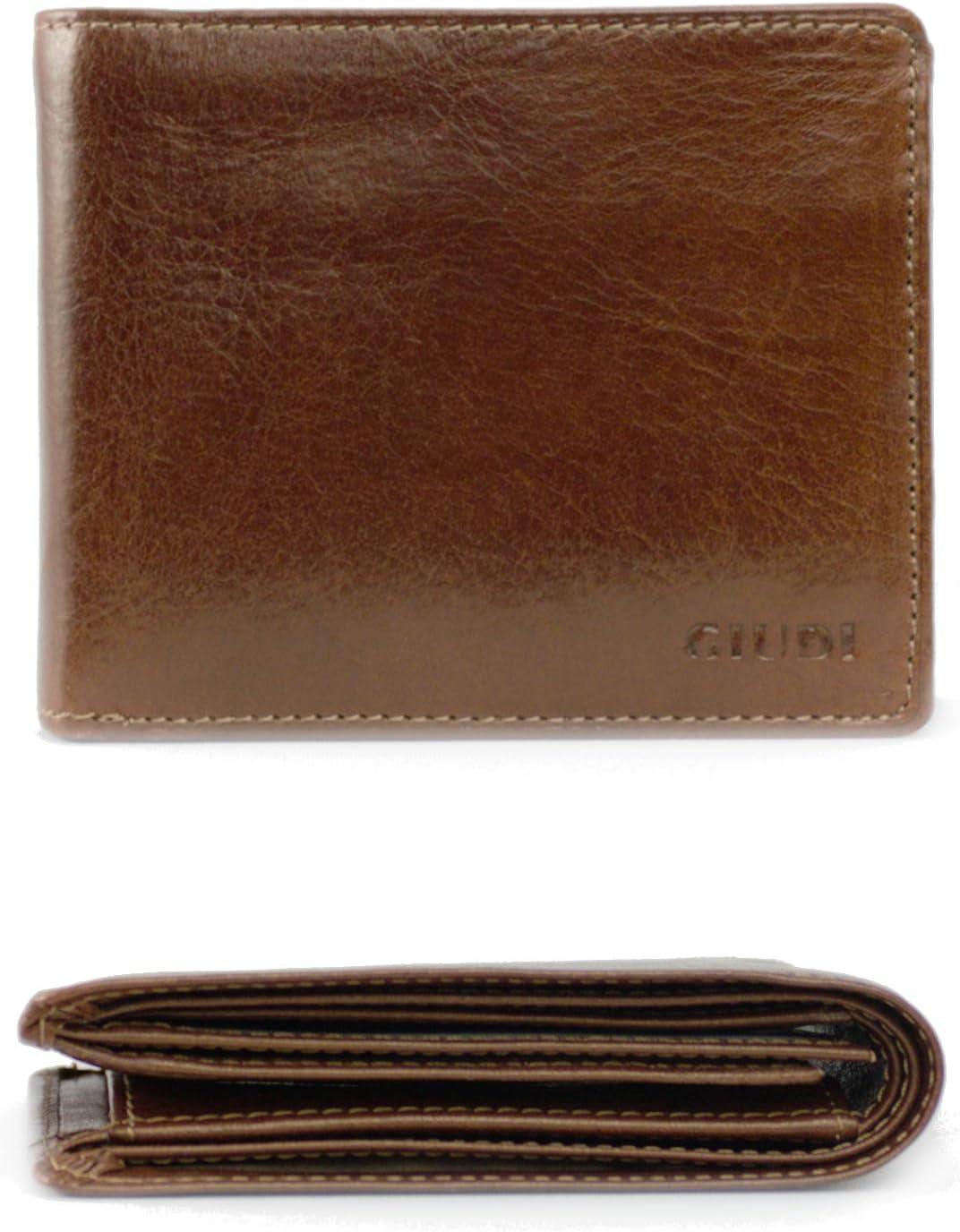 GIUDI Men`s 割引も実施中 Wallet Slim 定番キャンバス Brown Leather