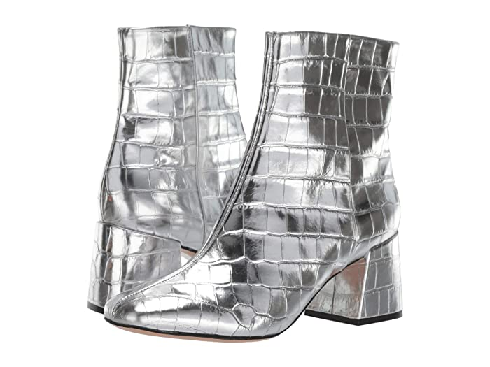 Vintage Boots- Buy Winter Retro Boots Schutz Mili Prata Metallic Crocodile Womens Shoes $144.00 AT vintagedancer.com