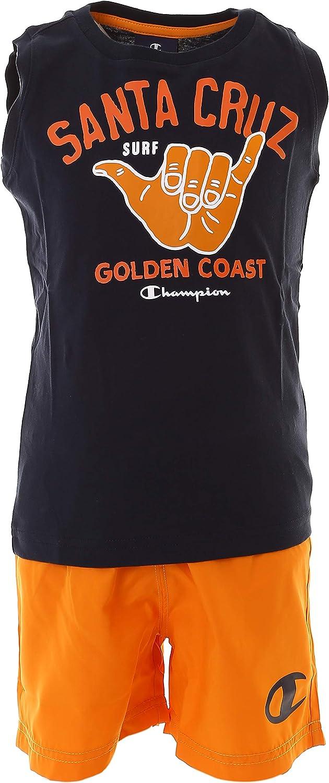 Champion Kids Boy Swimwear Set Tshirt Short Clothing Beach Swimming 305279-BS501