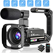 Video Camera 2.7K Camcorder Ultra HD 36MP Vlogging Camera...