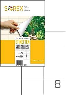 ETICHETTE dell/'indirizzo Bianco A4 Fogli Appiccicoso Autoadesivo Per a Getto D/'inchiostro//Laser Printer