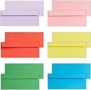 Business Envelopes, 120-Pack #10 Envelopes, 4 1/8 x 9 1/2 Inches, 6 Colors