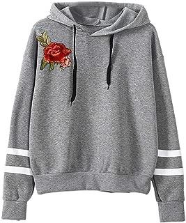 Gahrchian Women Cotton Hoodies Sweater Casual Lighweight Pullover Tops Ladies Girls Teen Back to School Sweatshirt Tunic