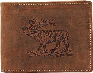 Greenburry Vintage Hirsch Monedero piel 12 cm