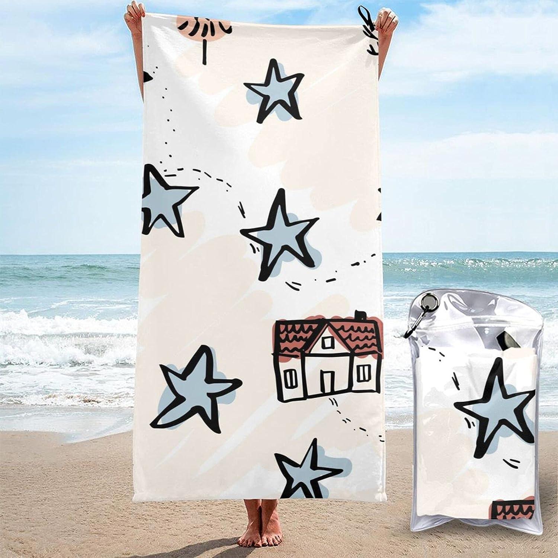 Microfiber Quick Dry OFFicial shop Towel Star House Comp 31.5