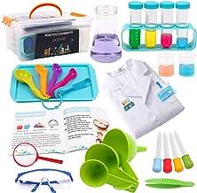 DigHealth Laboratorio de Quimica Juguete con Bata Blanca de Laboratorio ,Experimentos Científicos Herramientas con Gafas de Laboratorio para Niños de 5 a 11 años de Edad