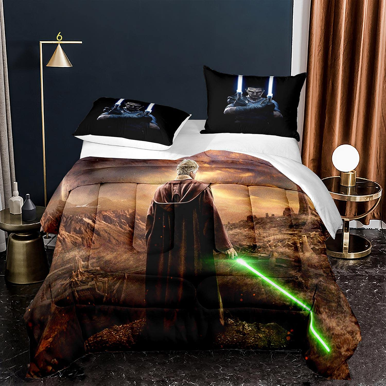 Tianzhihe Star-Wars Comforter Set King Mail order Size Boys Adult Set, Max 47% OFF Bl