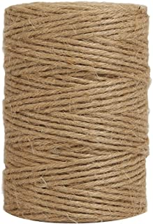 Tenn Well 300Feet Natural Jute Twine, 6 Ply 2.32mm Arts and Crafts Jute Rope Heavy Duty Packing String for Gifts, DIY Crafts, Bundling and Gardening