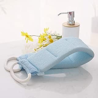 Deconovo Exfoliating Loofah Back Scrubber Durable Body Wash Shower Luffa Exfoliation Scrub with Straps for Men & Women, Blue, 1 pc, 1 lb