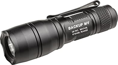 SureFire E1B-MV Backup Flashlights with Dual Output LED with MaxVision Beam Technology, Black