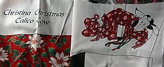 Springs Mills Christina Christmas Calico Cow Fabric Panel