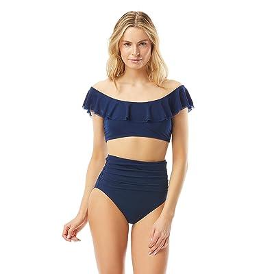 Carmen Marc Valvo Marche De Solids Ruffle Bikini Top