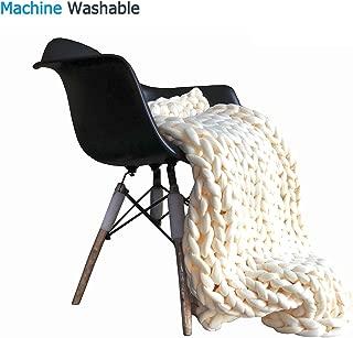 chunky knit blanket white
