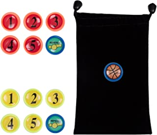 AGPTEK Scorebook, Coaching Marker Play Book and Notebook for Coach Strategy (Basketball Magnets)