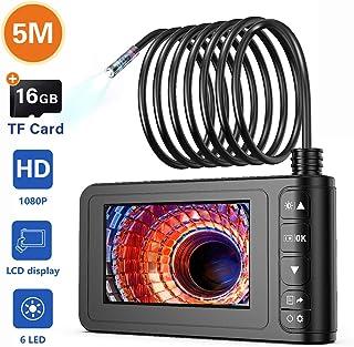 Industrial Endoscope, SKYBASIC 1080P HD Digital Borescope Camera Waterproof 4.3 Inch LCD..