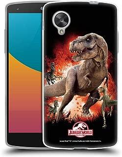 Official Jurassic World T-Rex VS. Velociraptors Key Art Soft Gel Case Compatible for LG Nexus 5