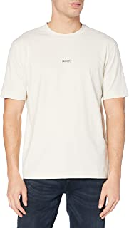 BOSS Mens TChup Layered-Logo T-Shirt in Stretch Cotton
