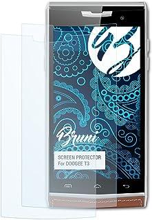 Bruni Película Protectora para DOOGEE T3 Protector Película, Claro Lámina Protectora (2X)