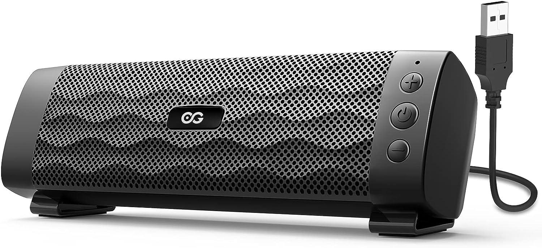 Altavoz PC, Mini Barra de Sonido 8W con USB para PC, con Cable para Ordenador con Control de Volumen en Línea para Escritorio, para Ordenador Portátil Móvil Móvil, Tabletas