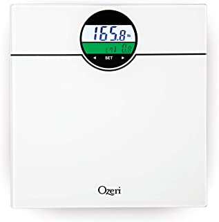Ozeri ZB21-W WeightMaster 400 lbs Digital Bath Scale with BMI and Weight Change Detection, White