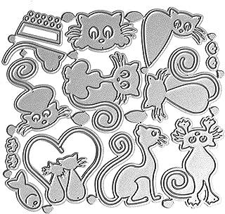 mengger 22Pcs Fustelle Stencil Fiori Lettere e Numeri Cutting Dies Taglio Muore Fustelle Inviti per DIY Scrapbooking Album Foto Segnalibro Mestiere Decorativo per Biglietti di Auguri Coltelli