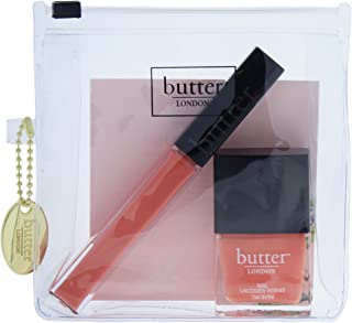 Butter London Coral Crush Lips And Tips Set - Shimmering Coral and Melon Crme, 16 ml