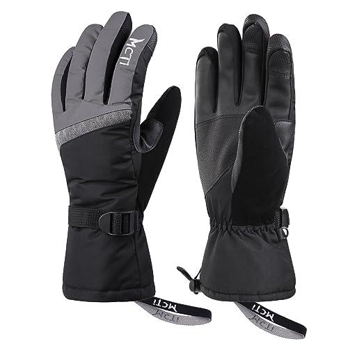 e531def6c MCTi Ski Gloves,Winter Waterproof Snowboard Snow 3M Thinsulate Warm  Touchscreen Cold Weather Women Gloves